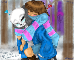 Sans and frisk by sonicfangirl666