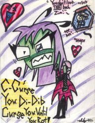 Zim Lost A Bet by Hattress-Of-Horror
