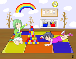 Kiriban: Let's build a tower! by Strawb-Ellie