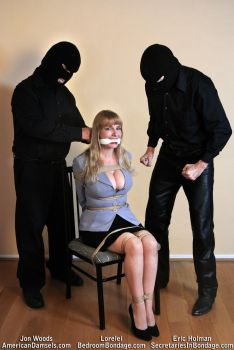 Lorelei chair-tied and gagged by Jon and Eric by LoreleiMission