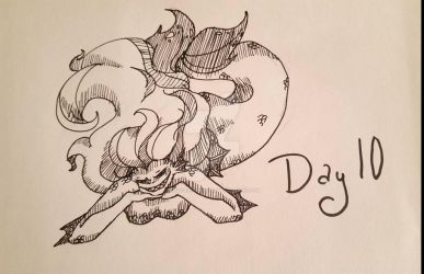 INKTOBER Day 10: Flowing by MaliceInTheAbyss
