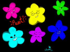 Undertale Flowers by AuraLeighDragon