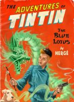 Tintin fan art - Cover by LeightonJohns