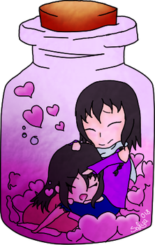.:Gift:. Love in a jar by SalyaDarken