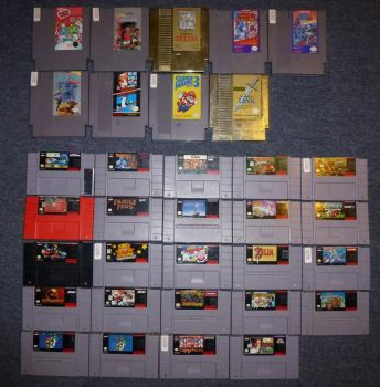 My NES and SNES Game Collection by Spaceman130
