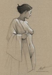 Nude drawing by javieralcalde