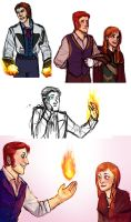 Fire Verse Hans and Anna Doodles by Cranity