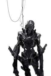 hung robot by Robotpencil