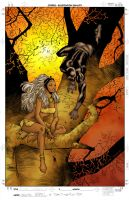 Black Panther and Storm by jeaf7