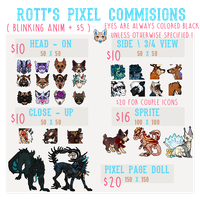 ROTT'S PIXEL COMMISSION PRICES 2017 - OPEN by rottingseams