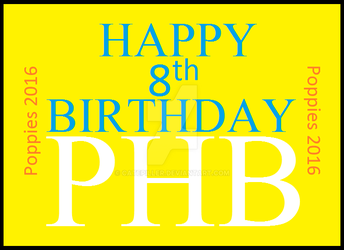 Happy 8th Birthday PHB! by Catepiller