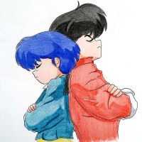 Akane and Ranma by emiliosan