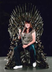Shauni flesh on the iron throne by Shauni-chan