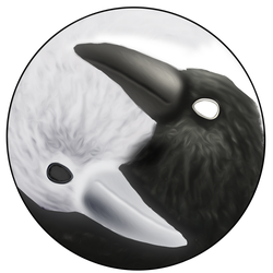 Yin and Yang - Raven and Dove by Pterolycus