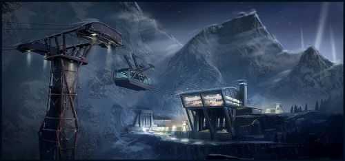 FUSE Mountain Airbase by MeckanicalMind