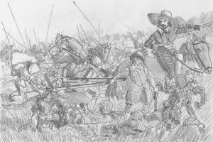 Breakthrough, Battle of Fleurus, August 29 1622 by FritzVicari