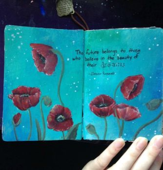 Art Journal - Poppies by Alaminia