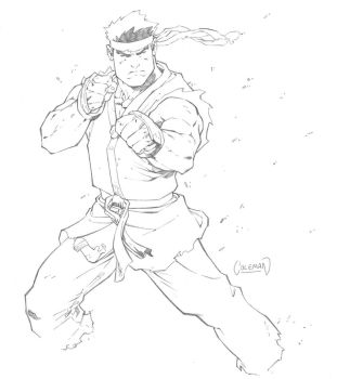 Ryu Sketch by RedCole84