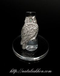 Silver owl ring by nataliakhon