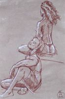 Life Drawing - May 2015 by Gizmoatwork