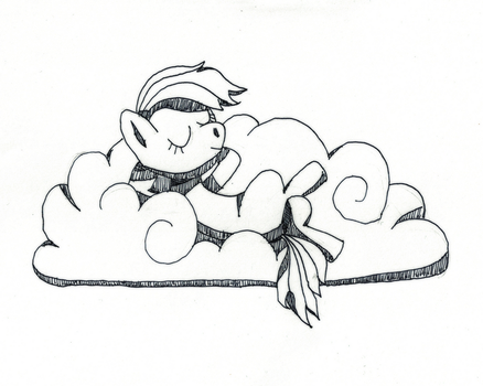 INKTOBER 2017 - #19 Cool cloud relaxation by elementiro