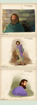 interior illustrations from a story book by eydii