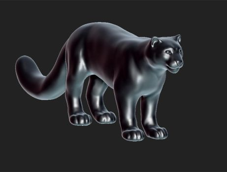 Big Kitteh 3D WIP by Roxo89