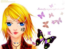 Butterfly on your right shoulder (again) by GlacyRoserade