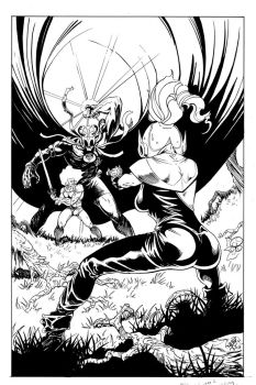 Thundercats cover inks by Wes-StClaire