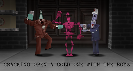 Cracking Open A Cold One With the Cogs by SwagForeman