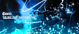 League of Legends : Ekko Second Signature by ItsRipples