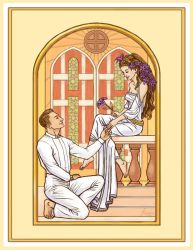R and A's wedding invitation by janeesper