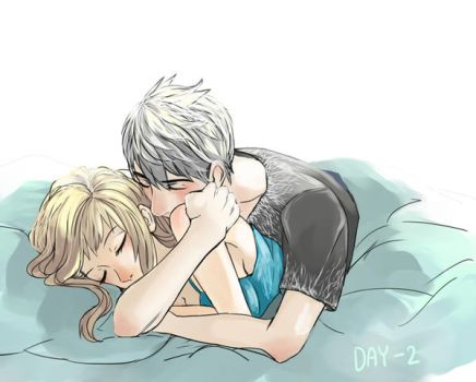 30 Day Challenge [Jelsa] Day 02 - Cuddling by jipzuru