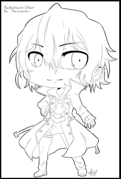 Commission:Chibi Gilbert Lines by MayomiCCz