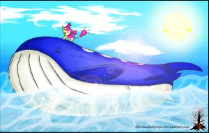 Hot Skitty on a Wailord by Manasurge