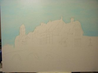 Houses and bridge WIP2 by dublodz