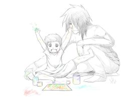 Kiriban Prize - Painting A Picture For Mommy by banANNU