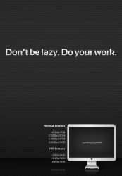 Don't be lazy Do your work by 365art