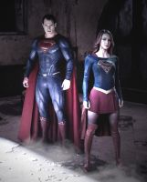 Supergirl and Man of Steel by dlscott1111