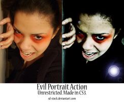Evil Portrait Action by sd-stock