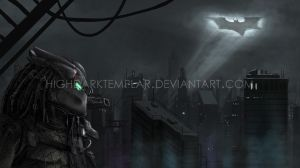 Predator at Gotham by highdarktemplar