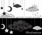 Fantasy Clouds and Rain by Lileya