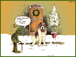 Xmas Post Card by altergromit