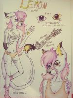 Lemon ref sheet by Pink-Sanity