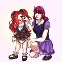 Miss Fortune and Annie Age Swap (LoL) by Ar-Kayn