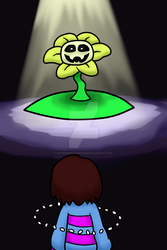 Frisk and Flowey (now with Video) by votederpycausemufins