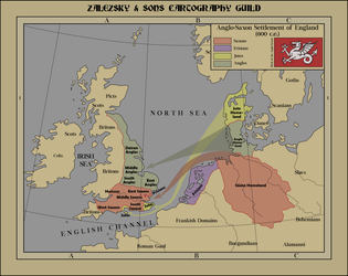 Anglo Saxon Settlement of England by zalezsky