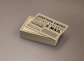 Cardboard Ticket Business Card by nazdrag