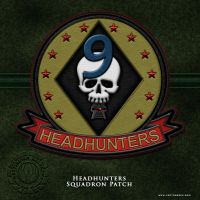 BSG Headhunters Squadron Patch by vectorgeek
