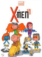 It's a Charlie Brown X-Men by ibroussardart